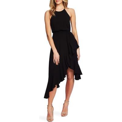 Cece Asymmetrical Cascading Ruffle Hem Dress