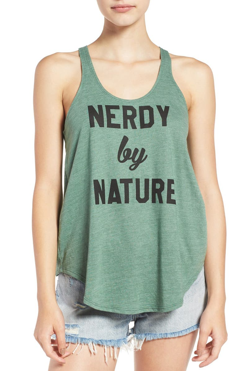SUB_URBAN RIOT 'Nerdy by Nature' Graphic Racerback Tank, Main, color, 300
