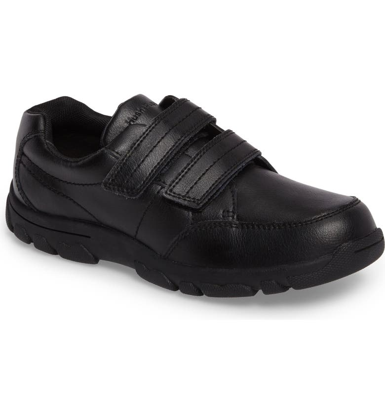 HUSH PUPPIES<SUP>®</SUP> Jace Dress Sneaker, Main, color, BLACK LEATHER