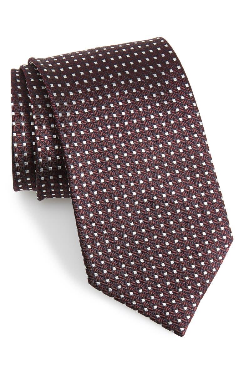 Ermenegildo Zegna Geometric Silk X Long Tie