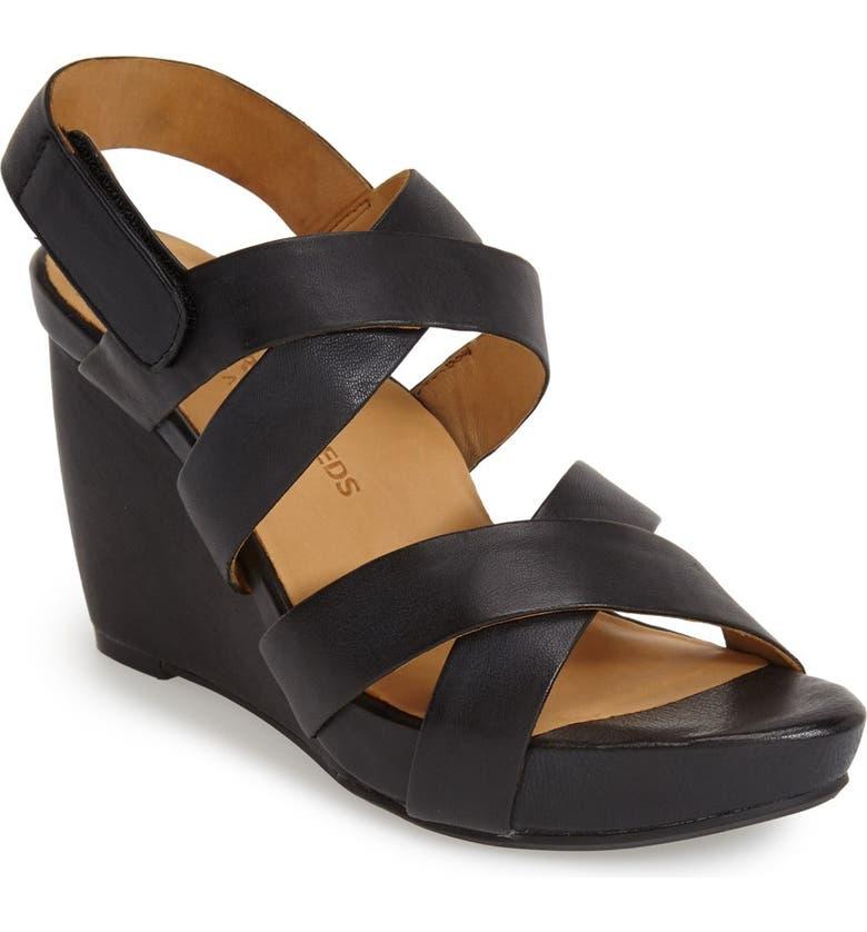 L'AMOUR DES PIEDS 'Ilene' Wedge Sandal, Main, color, 001
