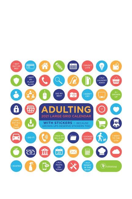 Image of TF Publishing 2021 Big Grid - Adulting Wall Calendar