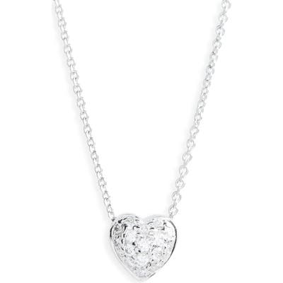 Roberto Coin Pave Heart Pendant Necklace