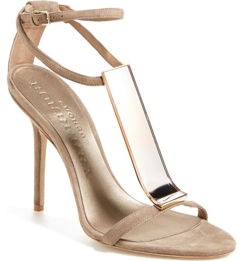 BURBERRY 'Irving' Perspex<sup>®</sup> T-Bar Sandal, Main, color, 250