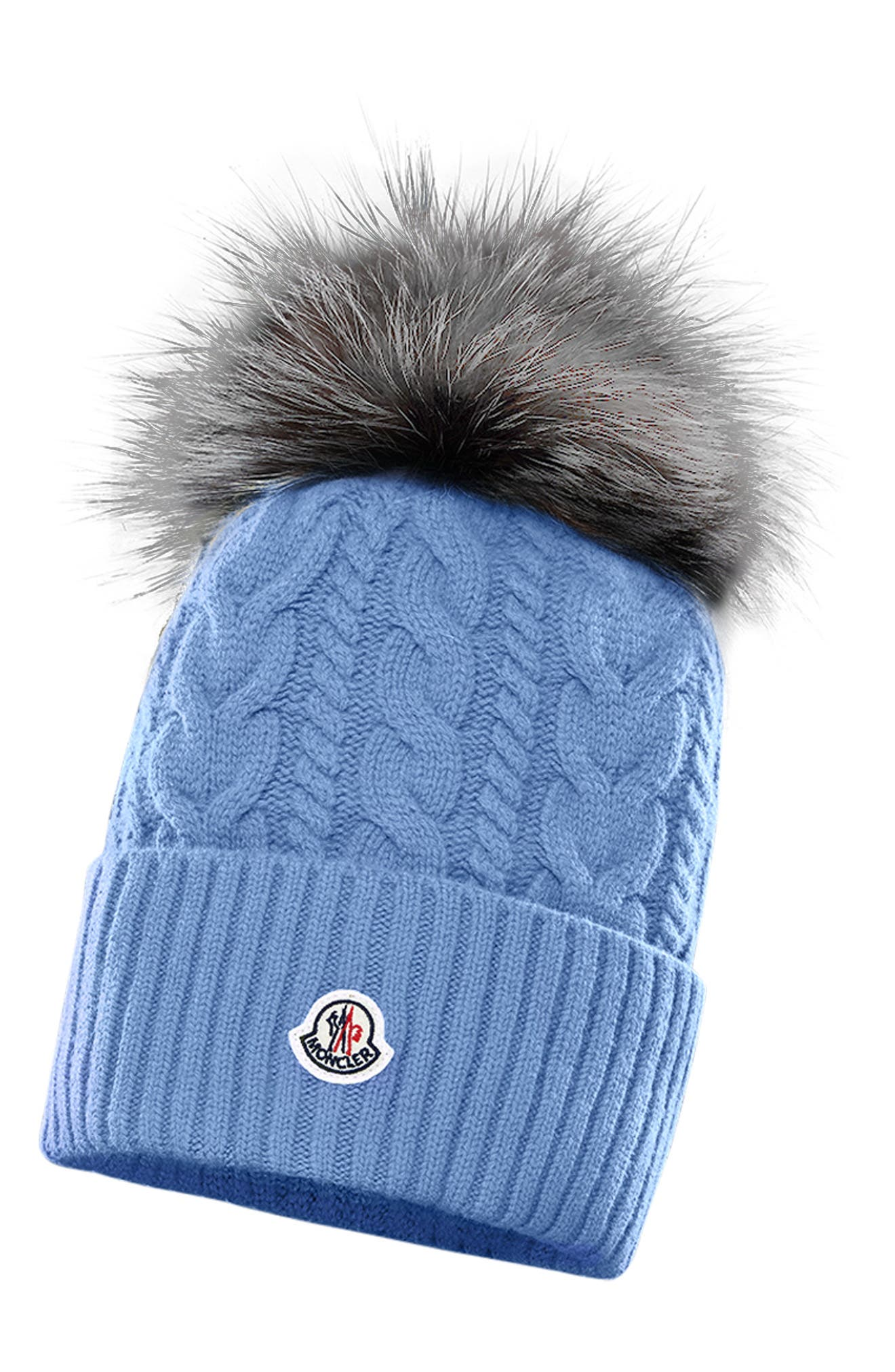 Qiraoxy Knitted Hat Winter Beanie Hat with Faux Fur Pom for Toddler Boys Girls White+Red