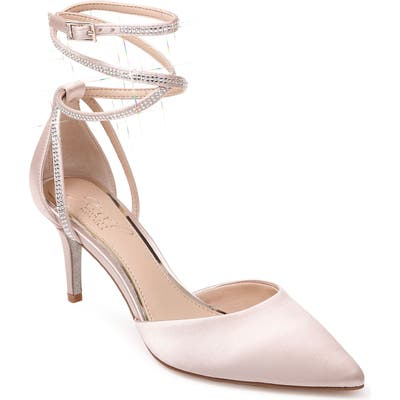 Jewel Badgley Mischka Sabrina Crystal Embellished Pump- Beige