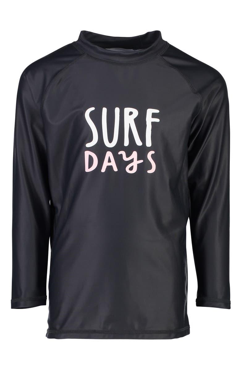 SNAPPER ROCK Surf Days Long Sleeve Rashguard, Main, color, YELLOW