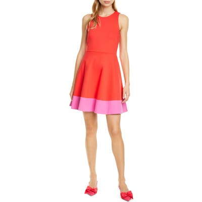 Kate Spade New York Colorblock Fit & Flare Dress