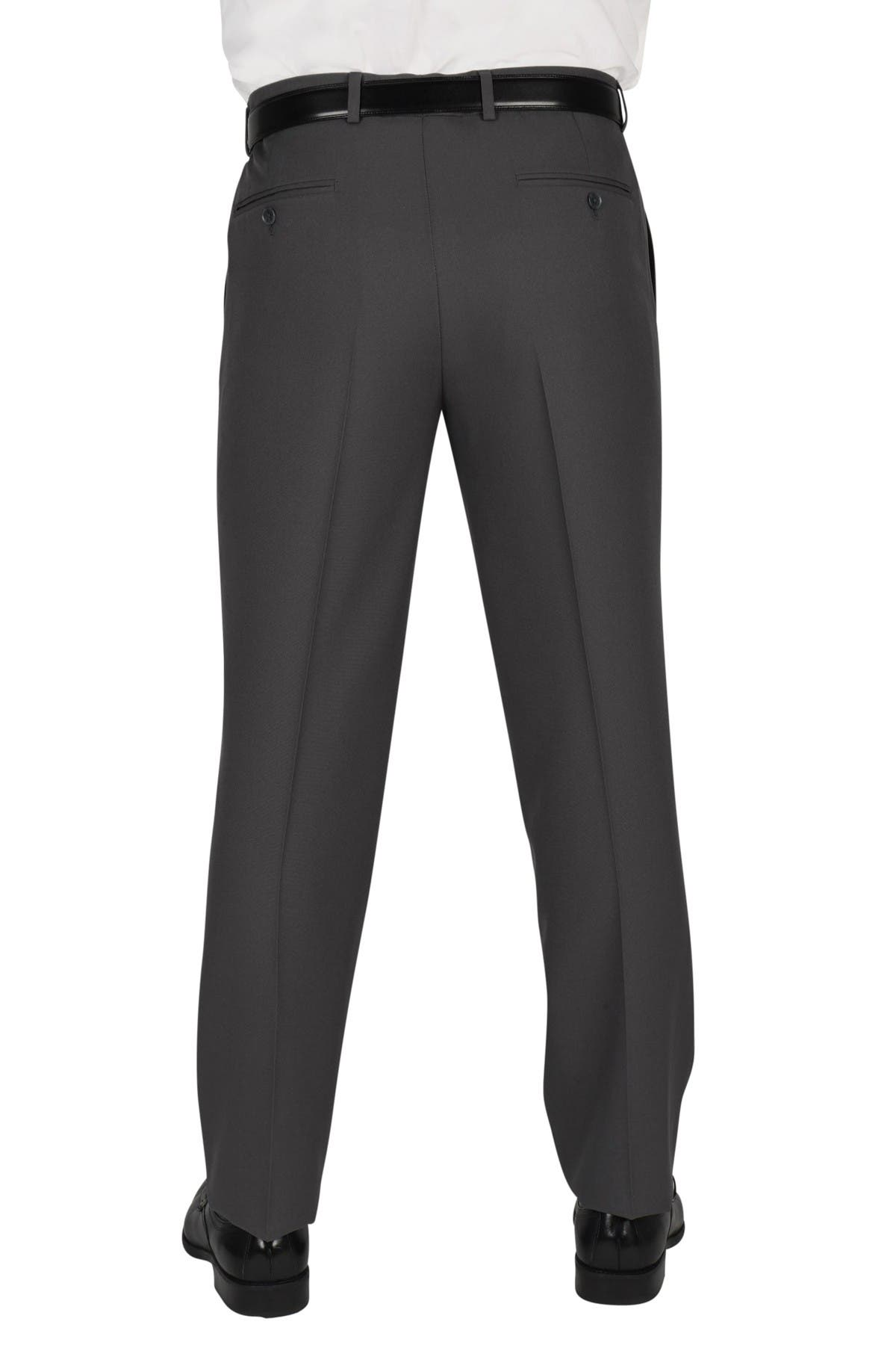 """Image of Dockers Solid Flat Front Stretch Waistband Slim Fit Dress Pants - 30-34"""" Inseam"""
