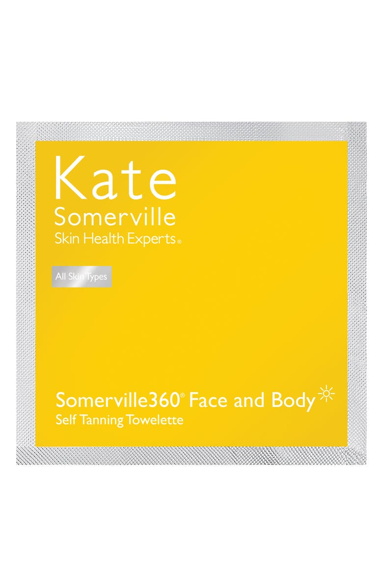 KATE SOMERVILLE<SUP>®</SUP> Somerville360° Tanning Towelettes, Main, color, NO COLOR