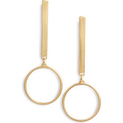 Karine Sultan Linear Hoop Earrings
