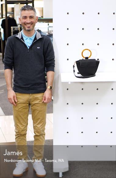 Gigi Ring Handle Faux Leather Grab Bag, sales video thumbnail