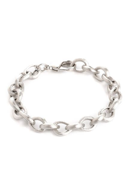 Image of Rivka Friedman White Rhodium Clad Satin Link Bracelet