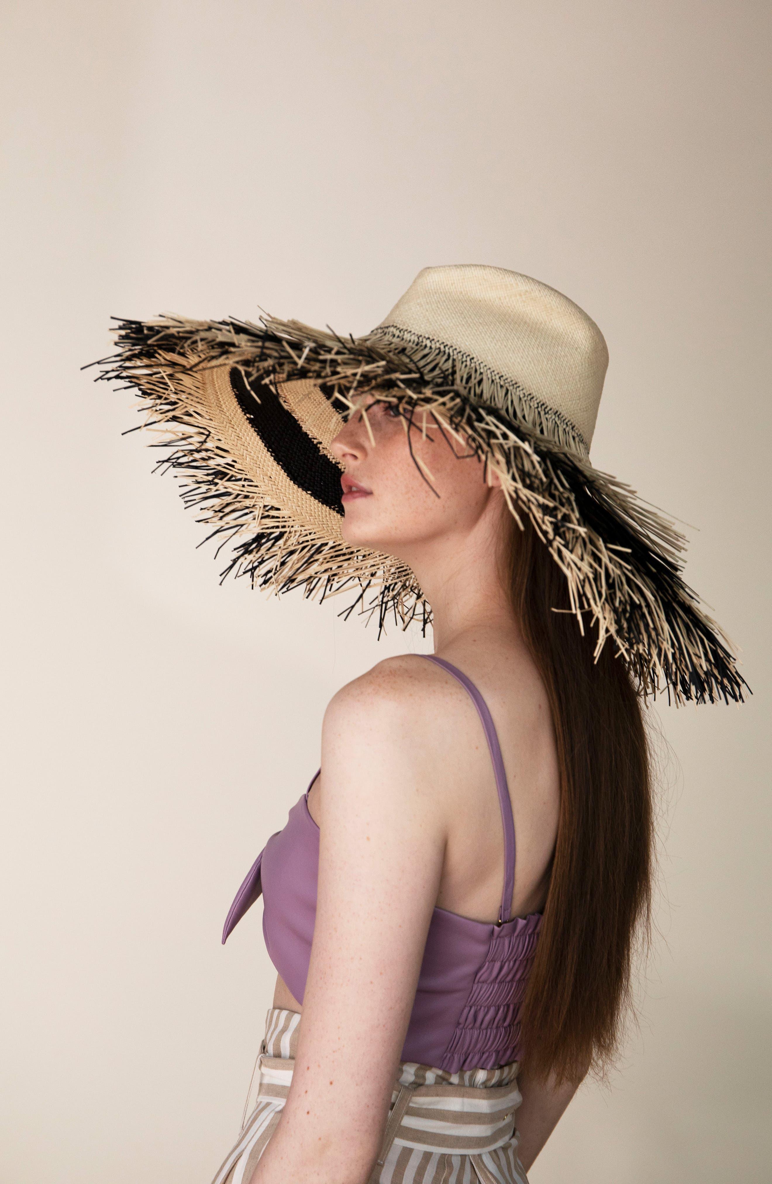 ,                             Porcupine Straw Hat,                             Alternate thumbnail 3, color,                             200