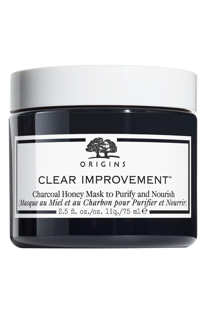 ORIGINS Clear Improvement<sup>™</sup> Charcoal Honey Mask, Main, color, 000