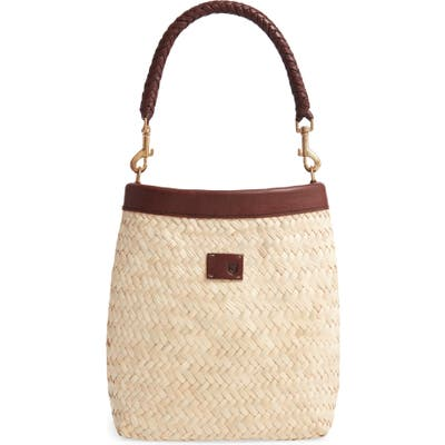 Brixton Layla Woven Top Handle Bag - Beige