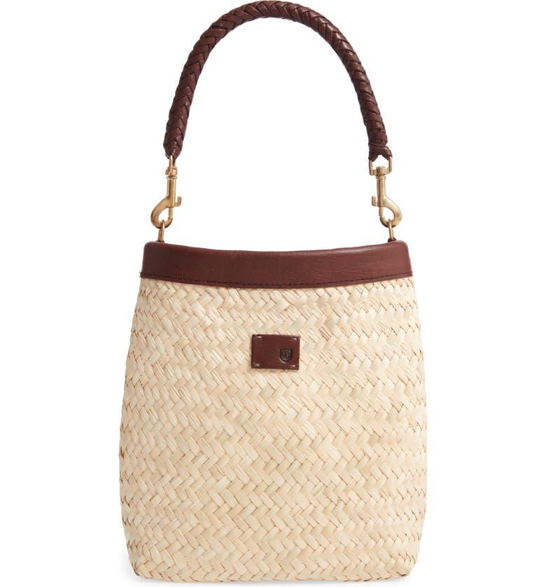 BRIXTON Layla Woven Top Handle Bag, Main, color, TAN