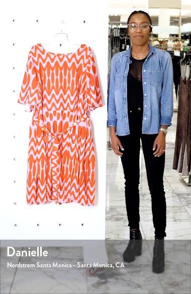 Flutter Sleeve Side Pleat Dress, sales video thumbnail