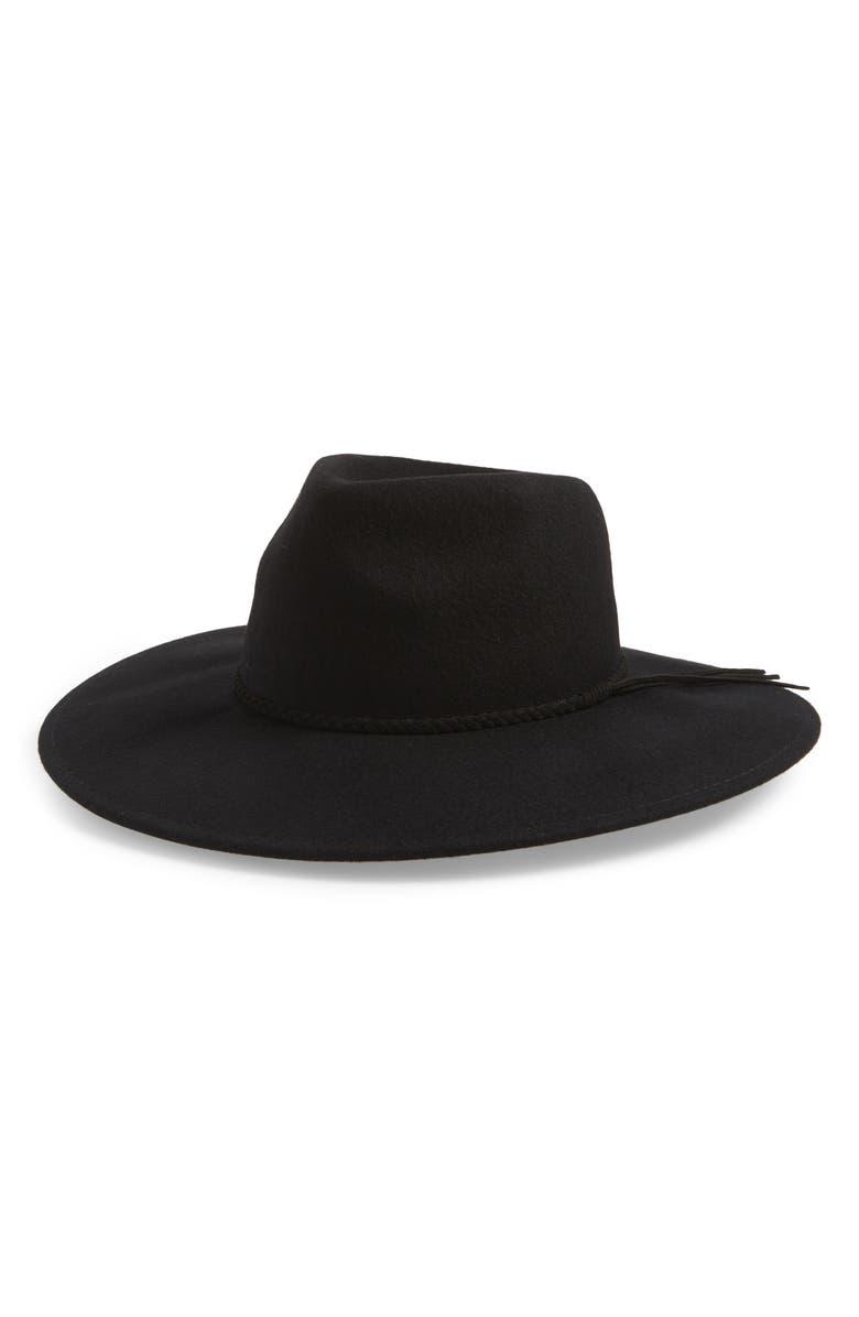 BP. Wool Felt Panama Hat, Main, color, BLACK