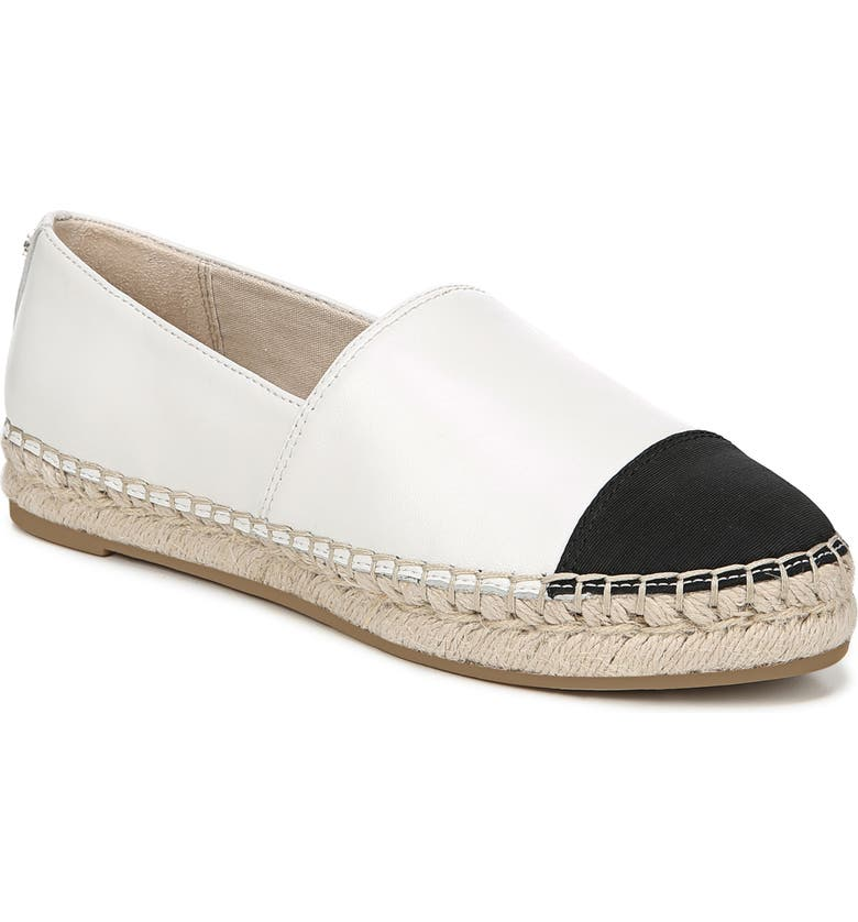 SAM EDELMAN Krissy Espadrille Flat, Main, color, BRIGHT WHITE NAPPA LEATHER