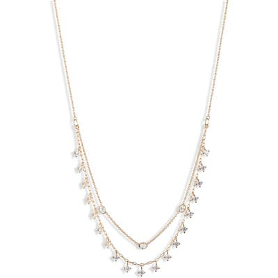 Nadri Shaky Cubic Zirconia Layered Necklace