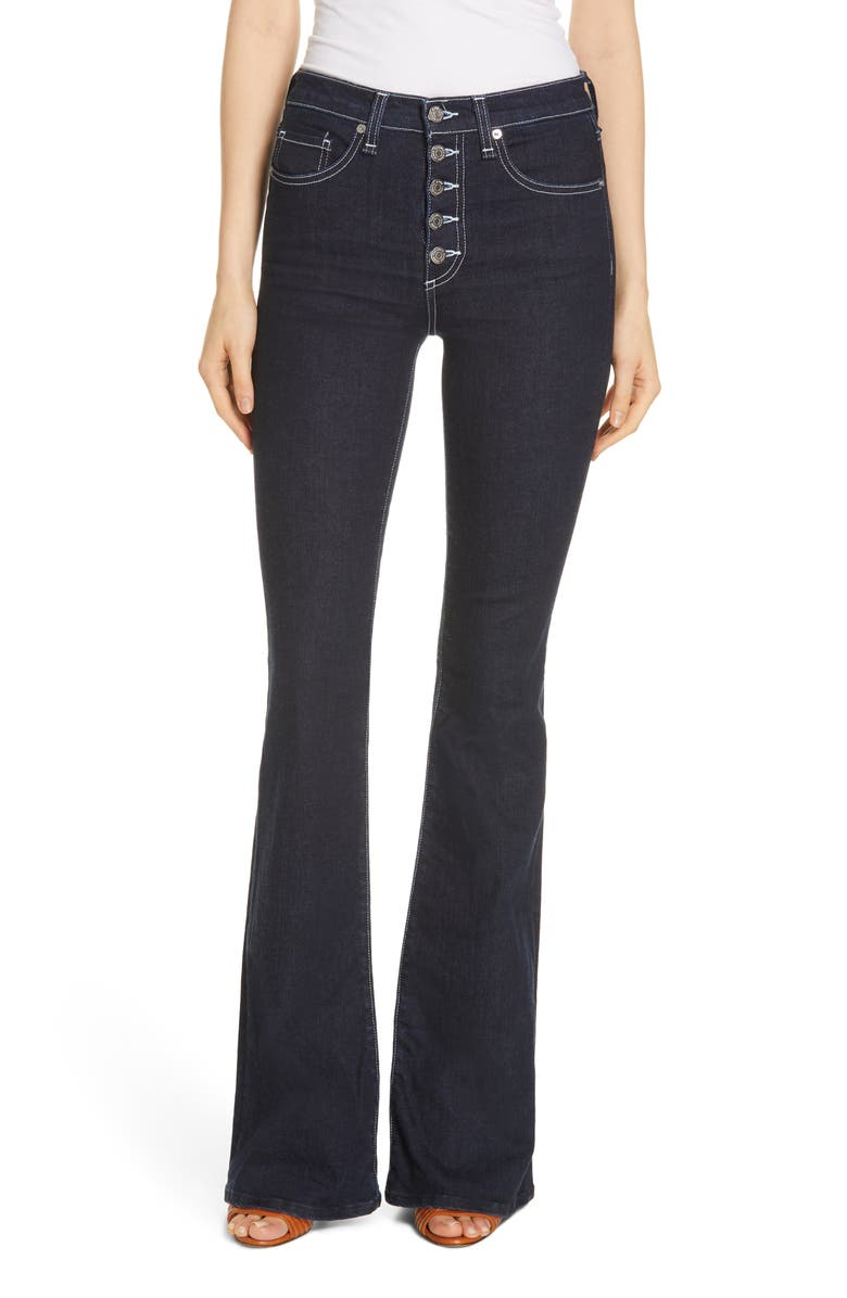 VERONICA BEARD Beverly Button Fly Skinny Flare Jeans, Main, color, 421