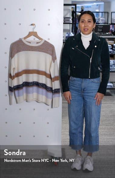 Stripe Crewneck Cashmere Sweater, sales video thumbnail