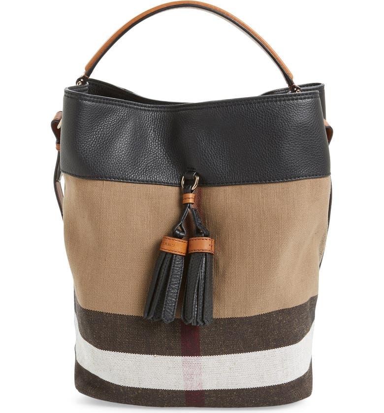 f2ae778396 Burberry 'Medium Susanna' Check Bucket Bag | Nordstrom