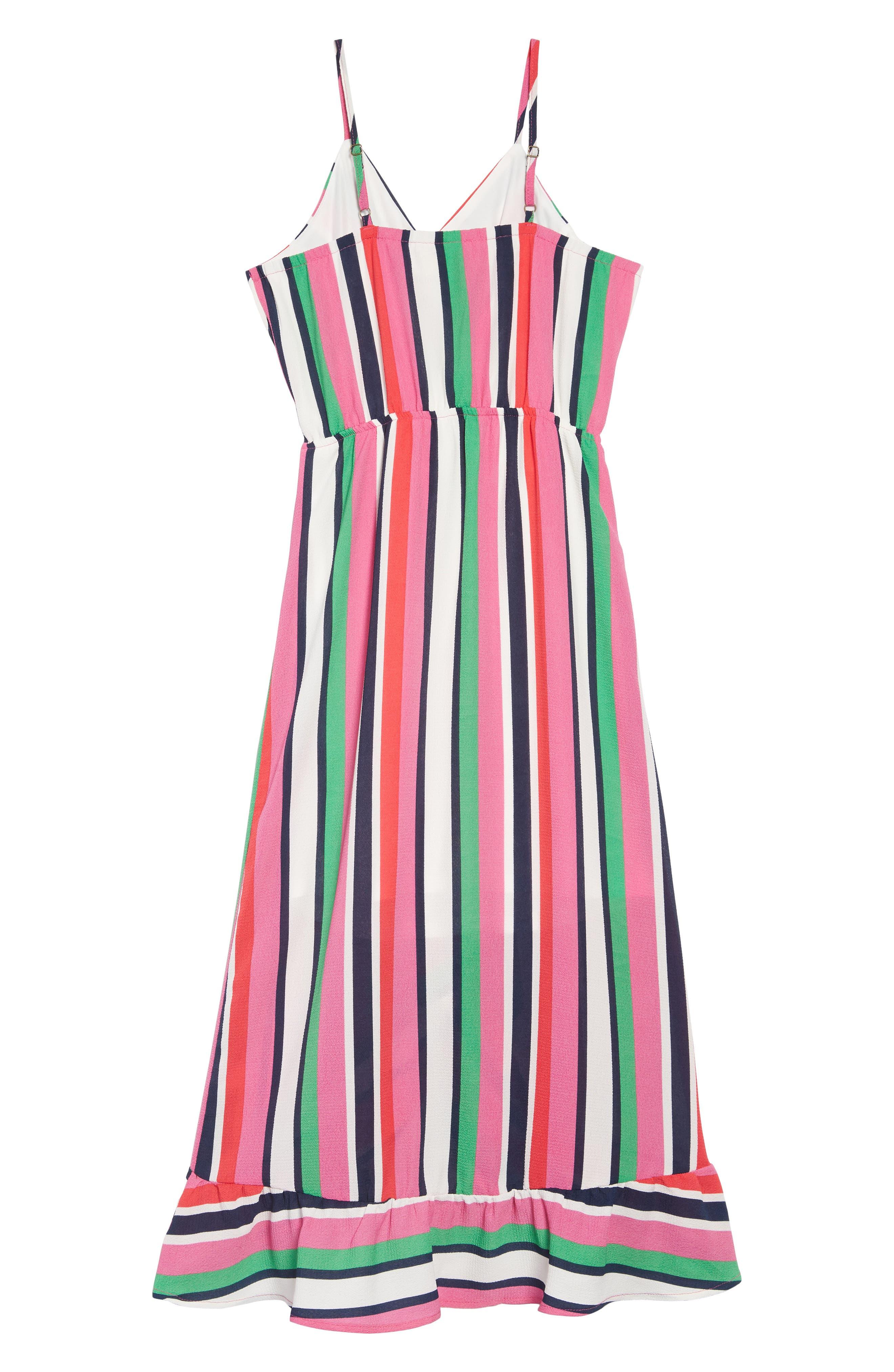 ,                             Stripe Maxi Dress,                             Alternate thumbnail 2, color,                             PINK MULTI