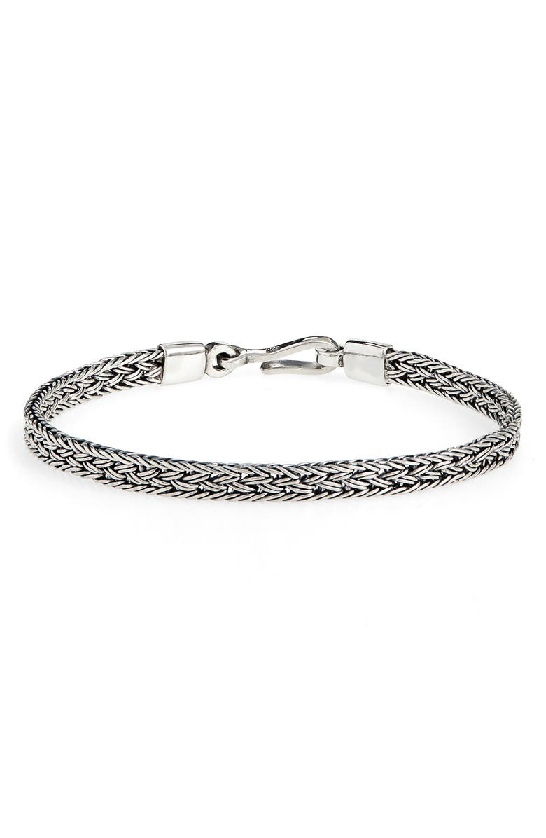 CAPUTO & CO. Artisan Silver Chain Bracelet, Main, color, STERLING SILVER