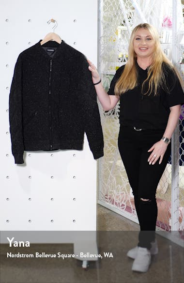 Slim Fit Quilted Bomber Jacket, sales video thumbnail