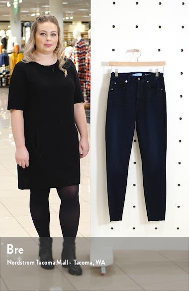 High Waist Cut Hem Ankle Skinny Jeans, sales video thumbnail