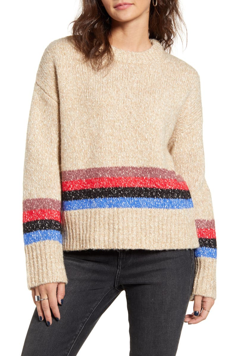 TREASURE & BOND Mini Stripe Pullover, Main, color, 260