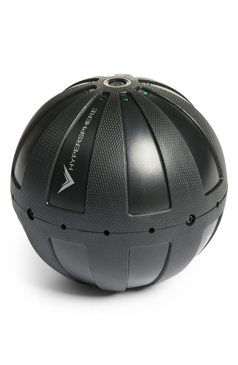 HYPERICE Hypersphere Vibrating Fitness Massage Ball, Main, color, BLACK
