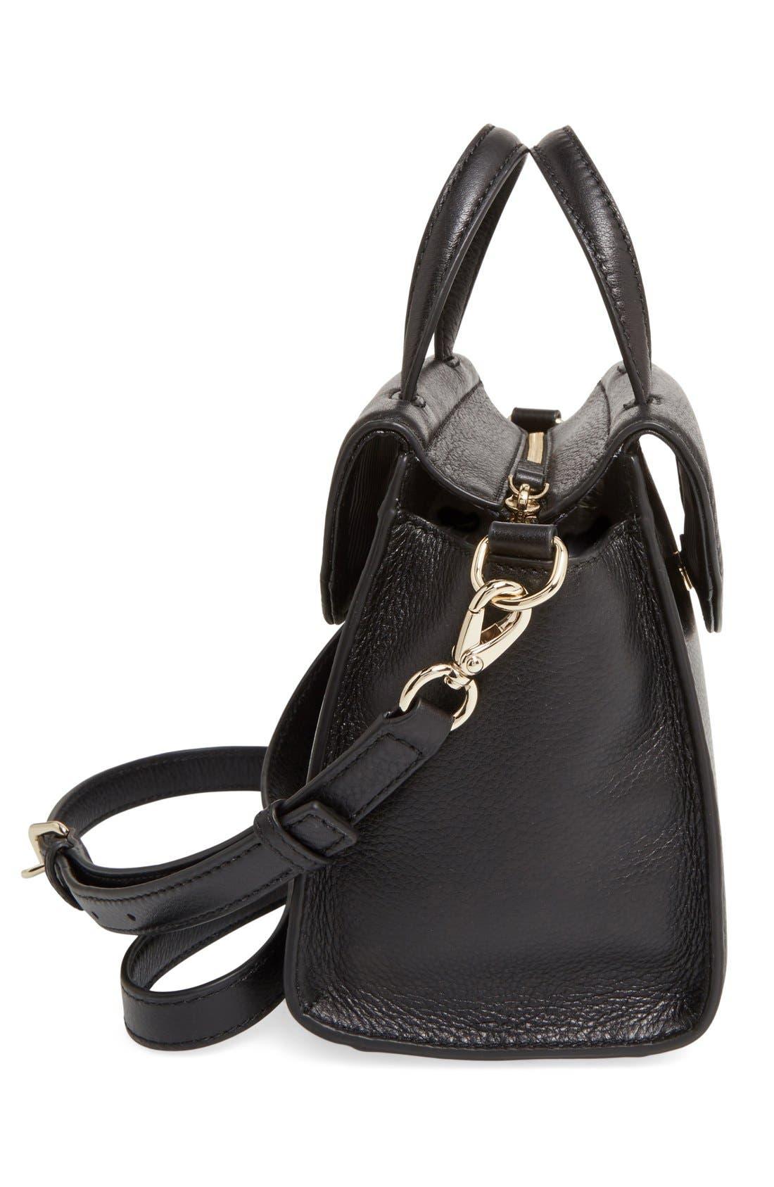 ,                             'cobble hill - small adrien' leather satchel,                             Alternate thumbnail 5, color,                             001