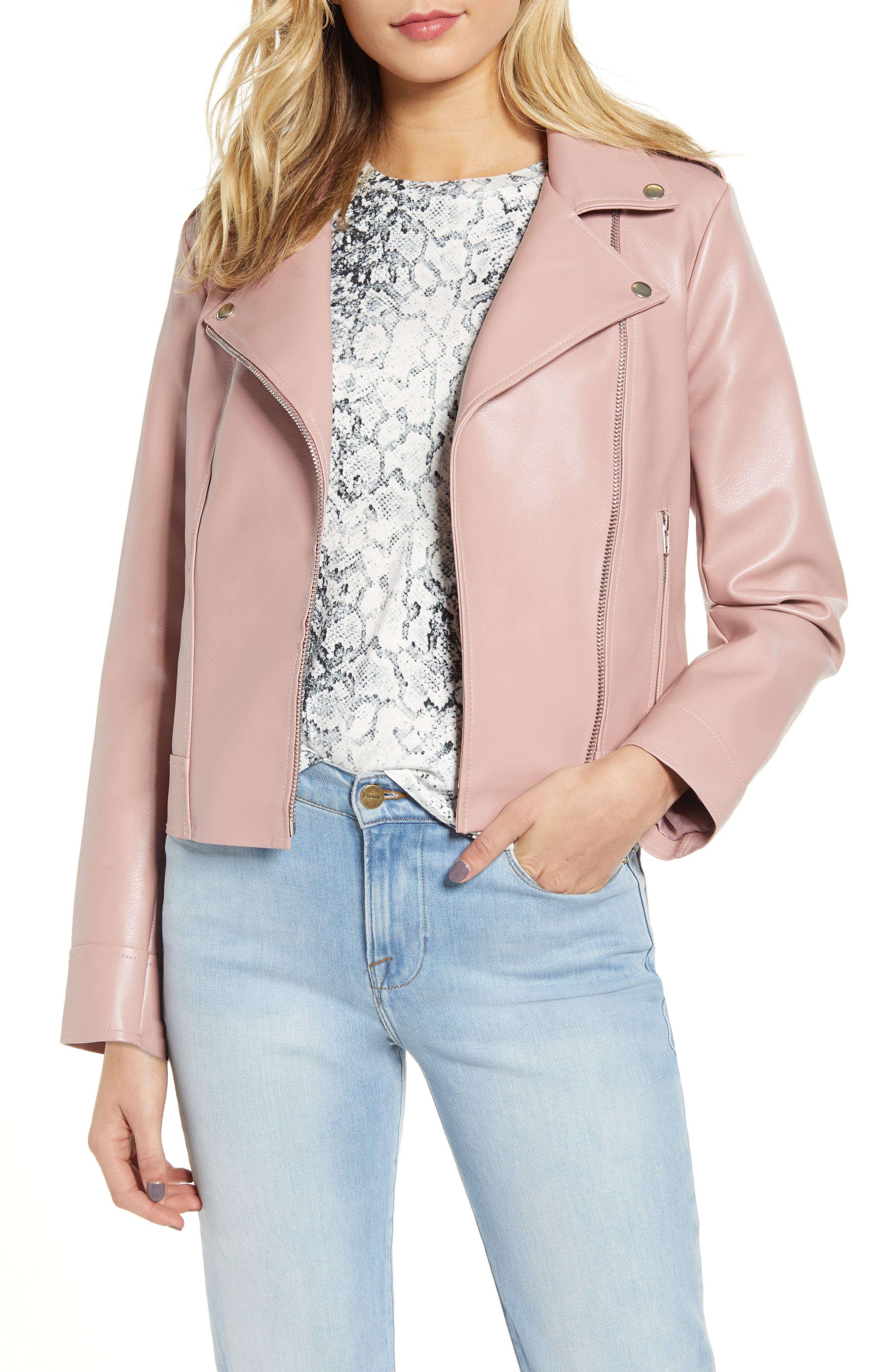 BB Dakota Faux Leather Moto Jacket