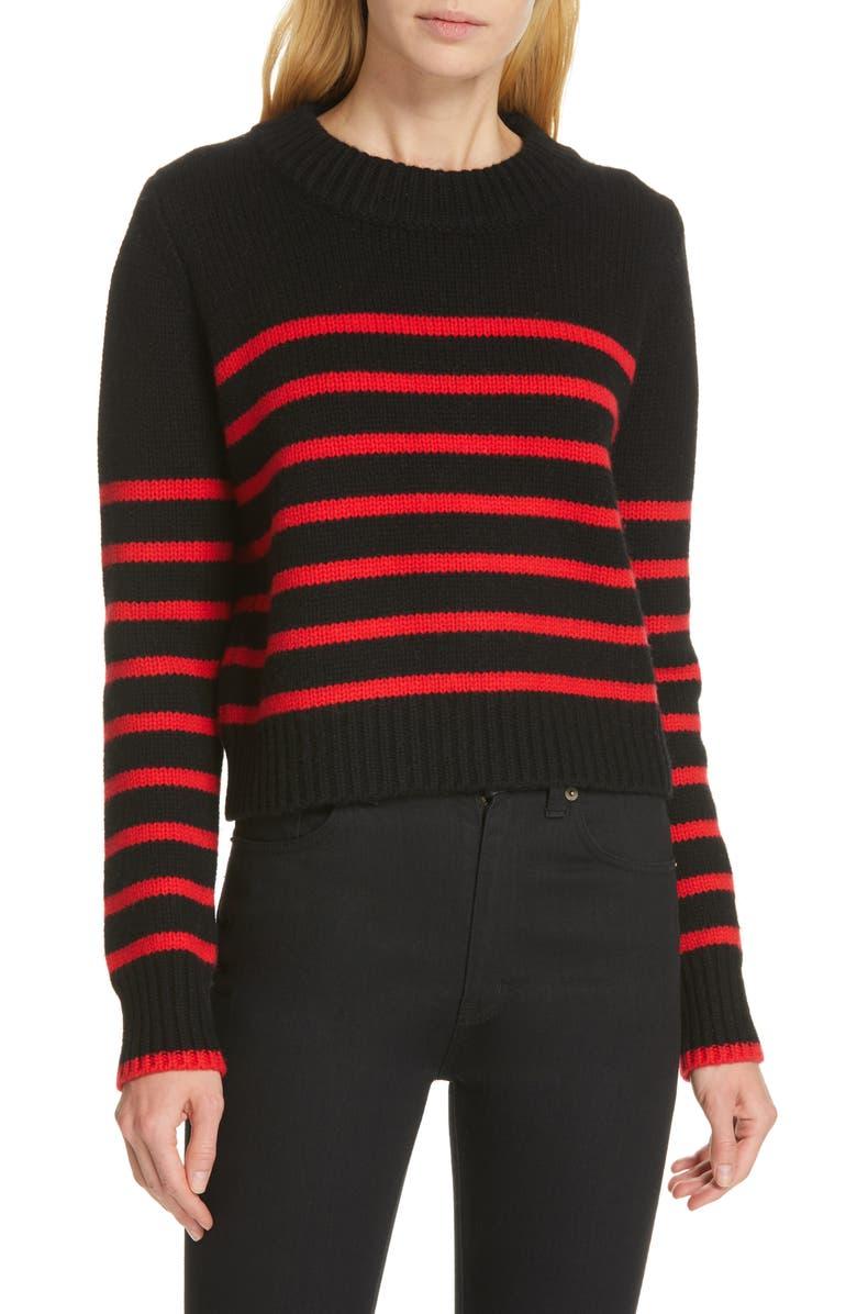 LA LIGNE Mini Maren Wool & Cashmere Sweater, Main, color, 007