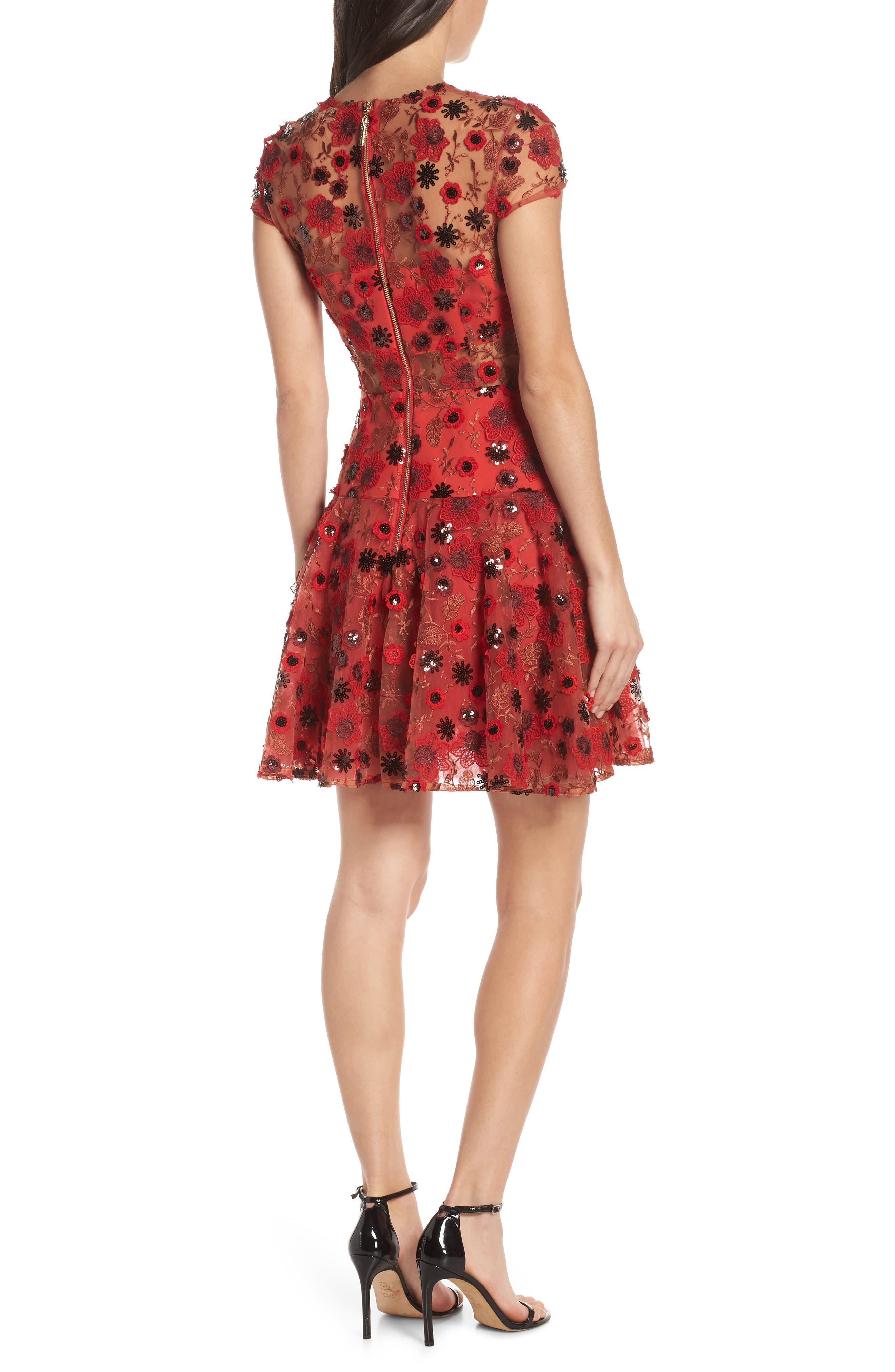 ,                             Della Rouge Minidress,                             Alternate thumbnail 2, color,                             RED