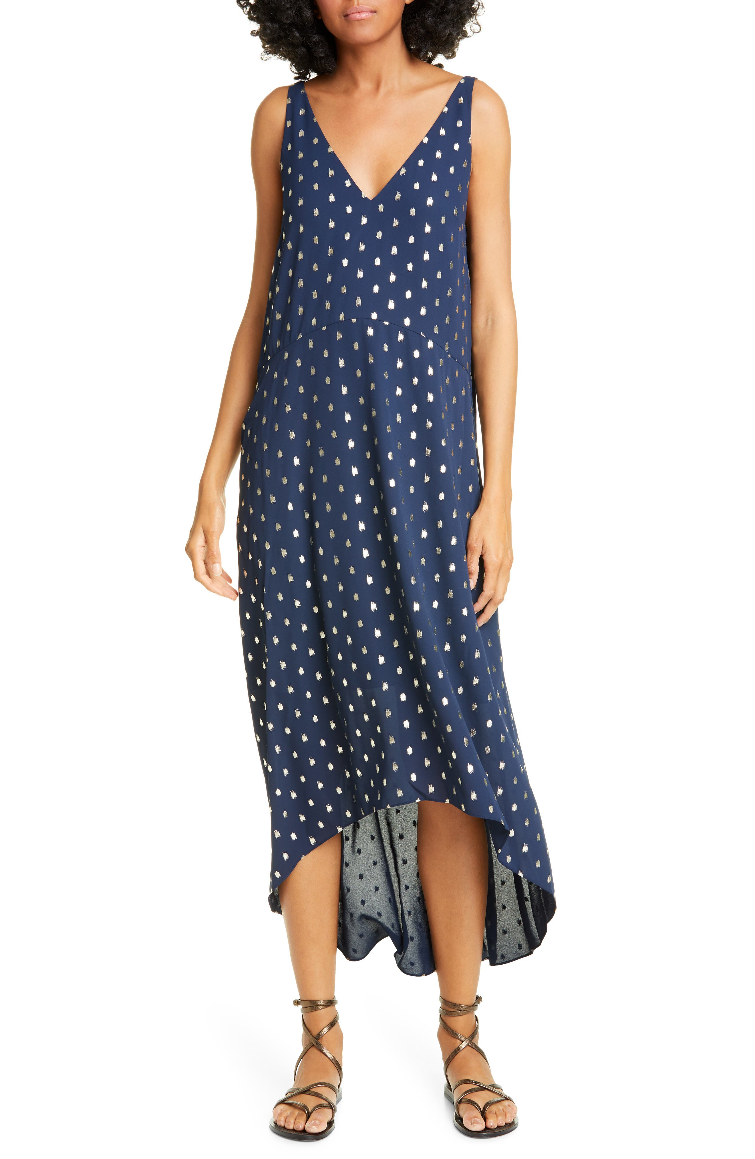 Ted Baker London High/low Dress, Blue