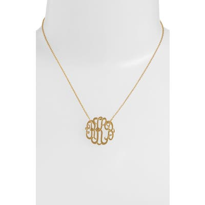 Argento Vivo Personalized Small 3-Initial Letter Monogram Necklace (Nordstrom Exclusive)