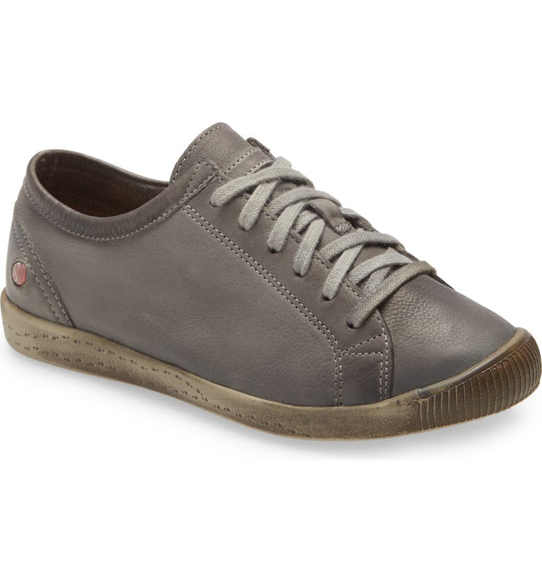 SOFTINOS BY FLY LONDON Isla Distressed Sneaker, Main, color, MILITARY LEATHER