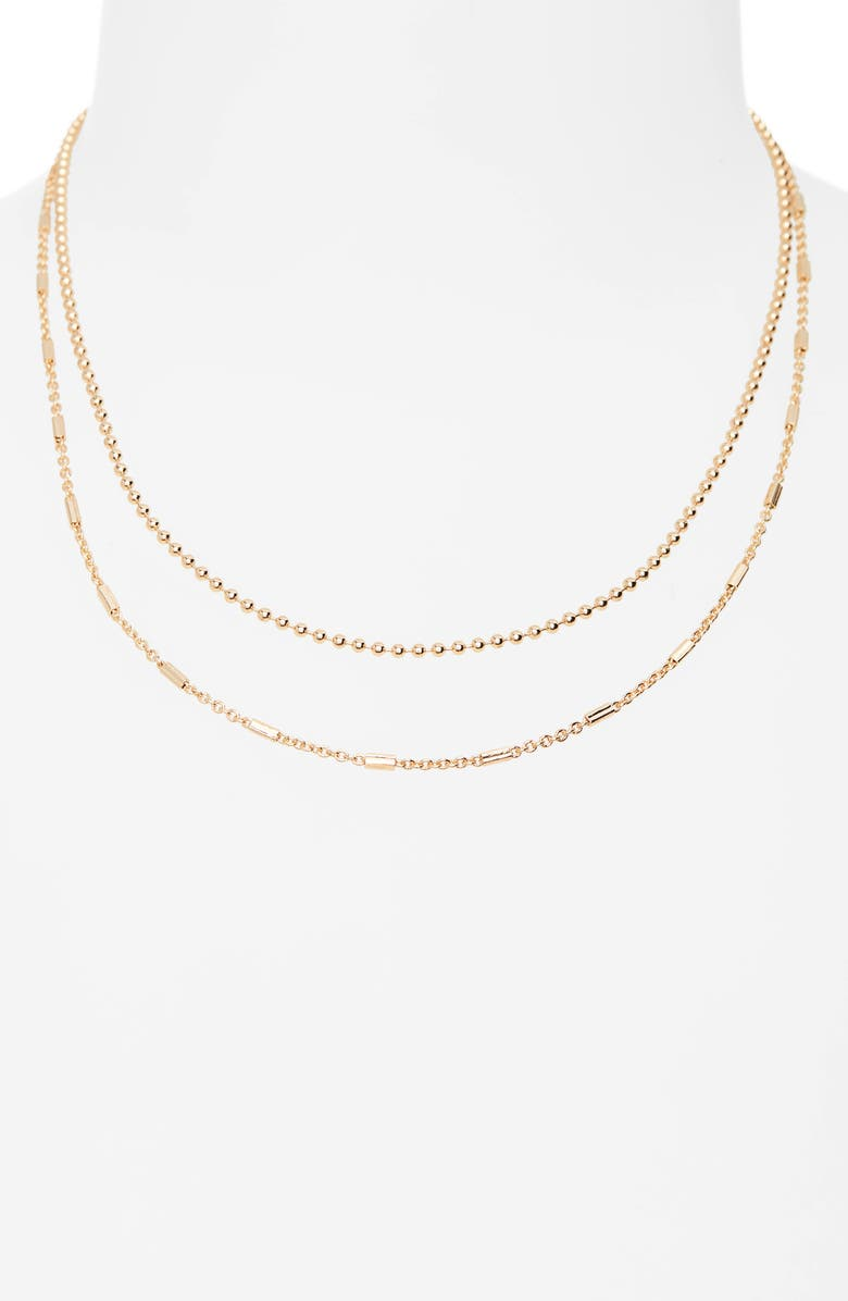 BP. Layered Chain Necklace, Main, color, GOLD