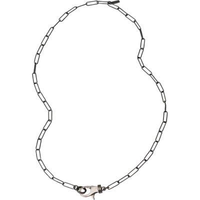 Adornia Lock Paper Clip Link Necklace