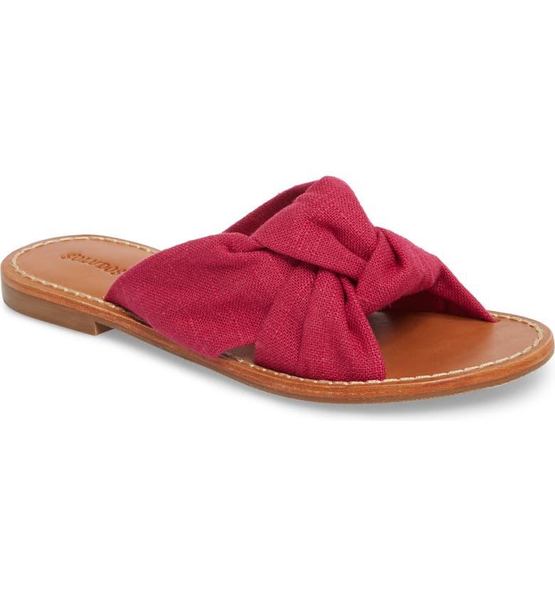 SOLUDOS Knotted Slide Sandal, Main, color, 652