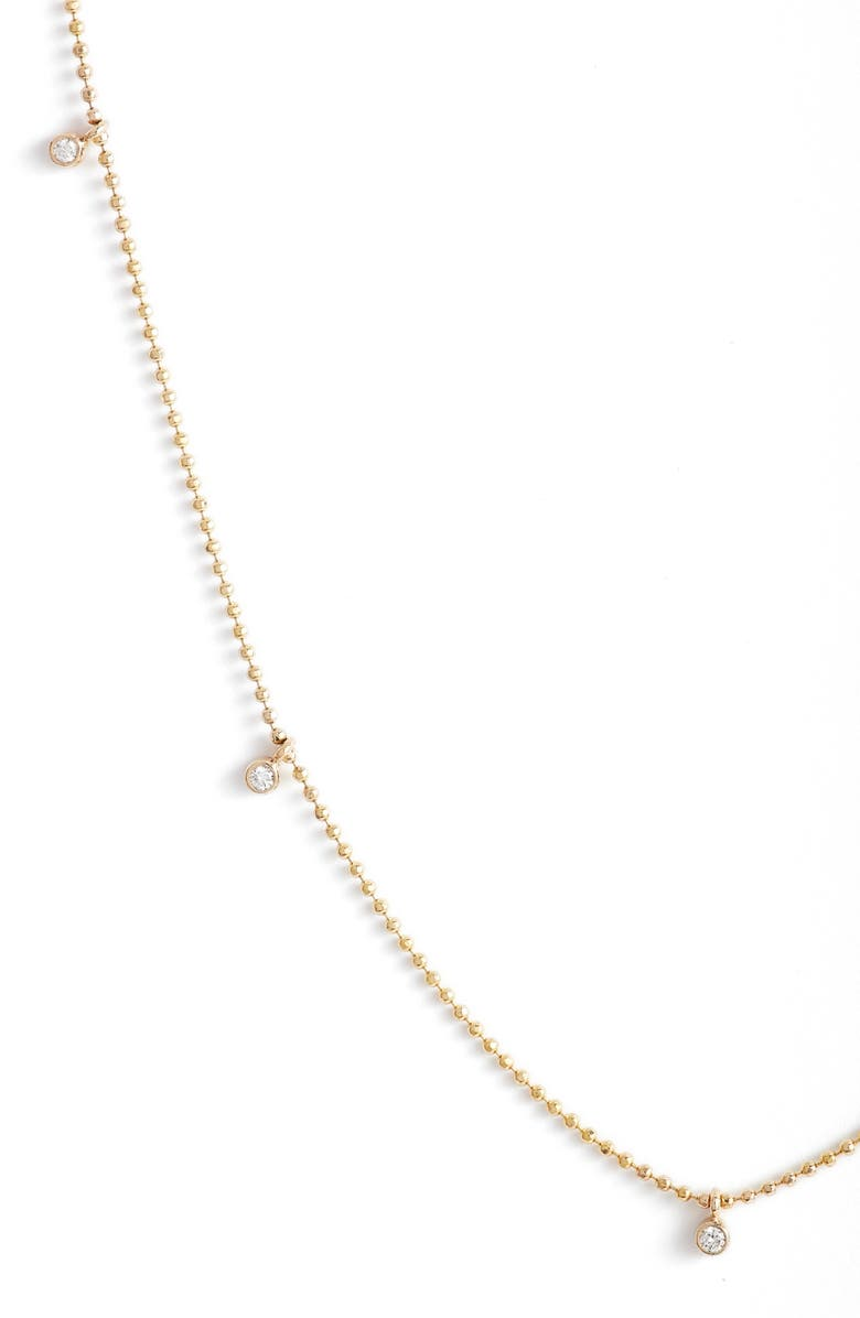 ZOË CHICCO Diamond Charm Necklace, Main, color, YELLOW GOLD