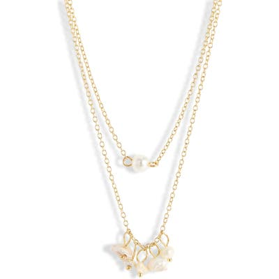 Jules Smith Layered Freshwater & Imitation Pearl Necklace