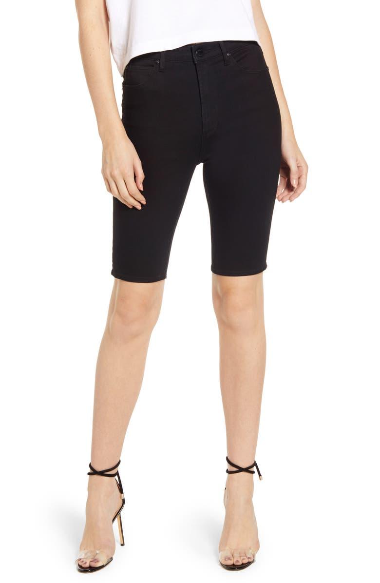 LEITH Denim Bermuda Shorts, Main, color, 001