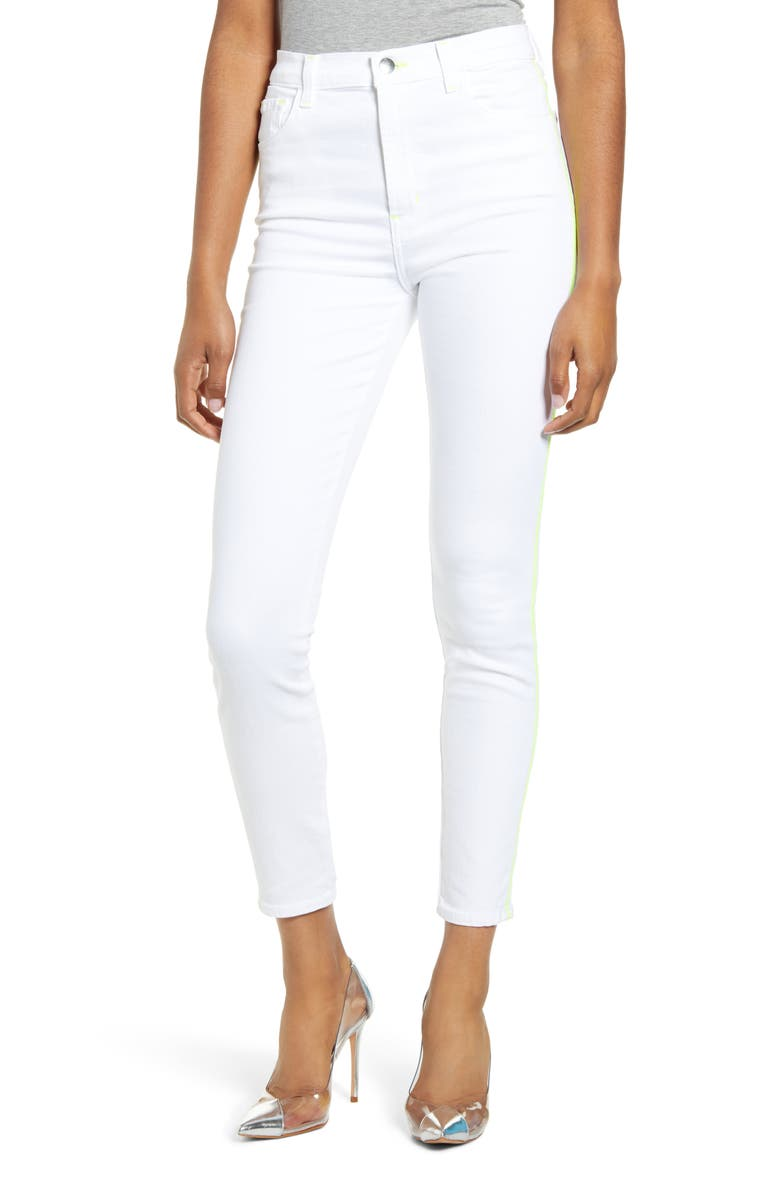 J BRAND Leenah Super High Waist Ankle Skinny Jeans, Main, color, ANALOG
