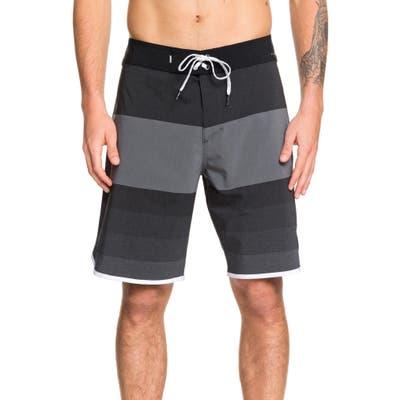 Quiksilver Highline Tijuana Stripe Board Shorts, Black