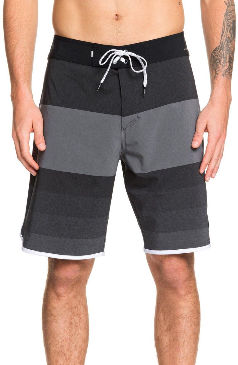 QUIKSILVER Highline Tijuana Stripe Board Shorts, Main, color, BLACK